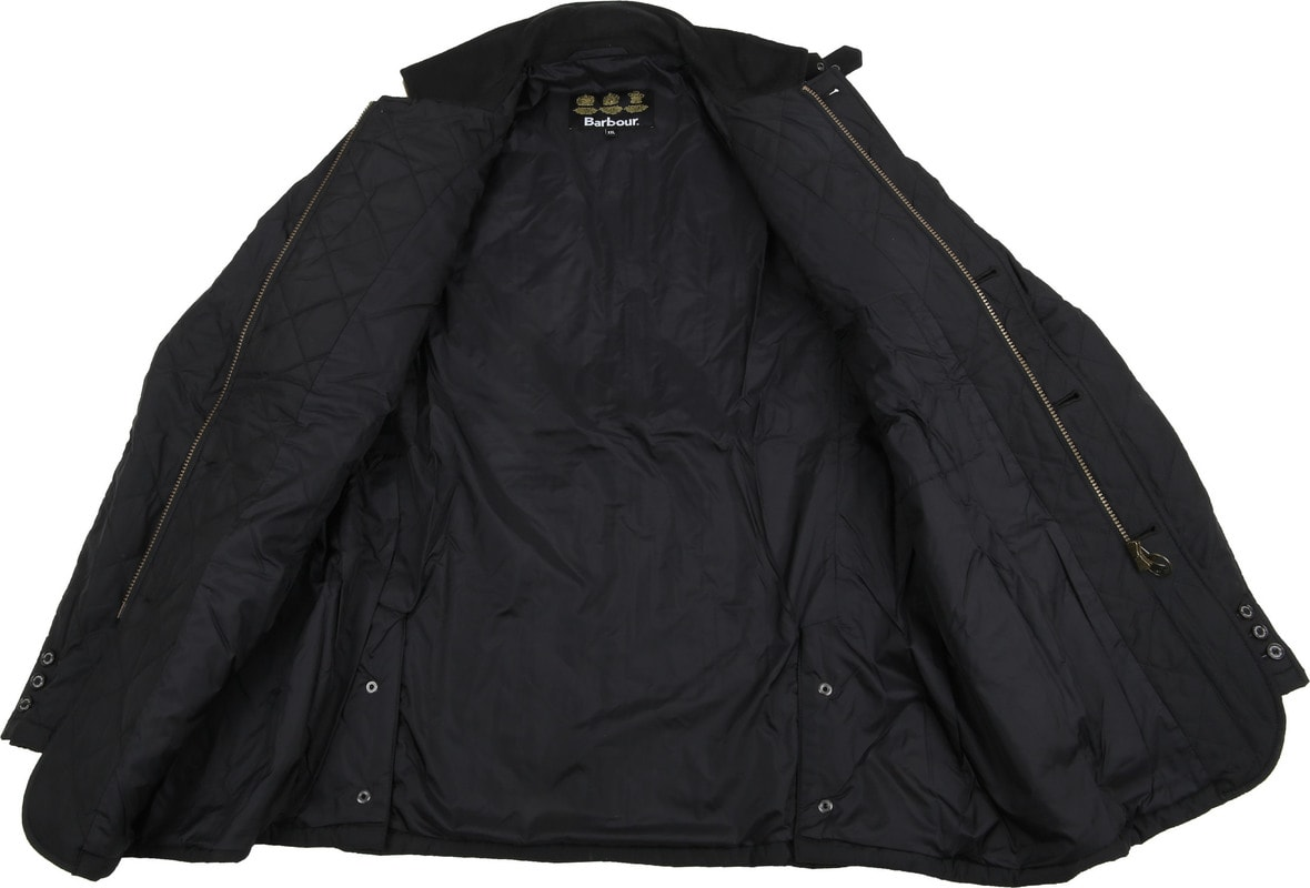 Barbour Lutz Quilt Jacket Zwart foto 5