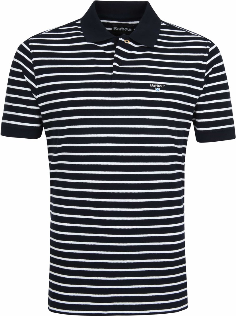Barbour Polo Strepen Donkerblauw foto 0