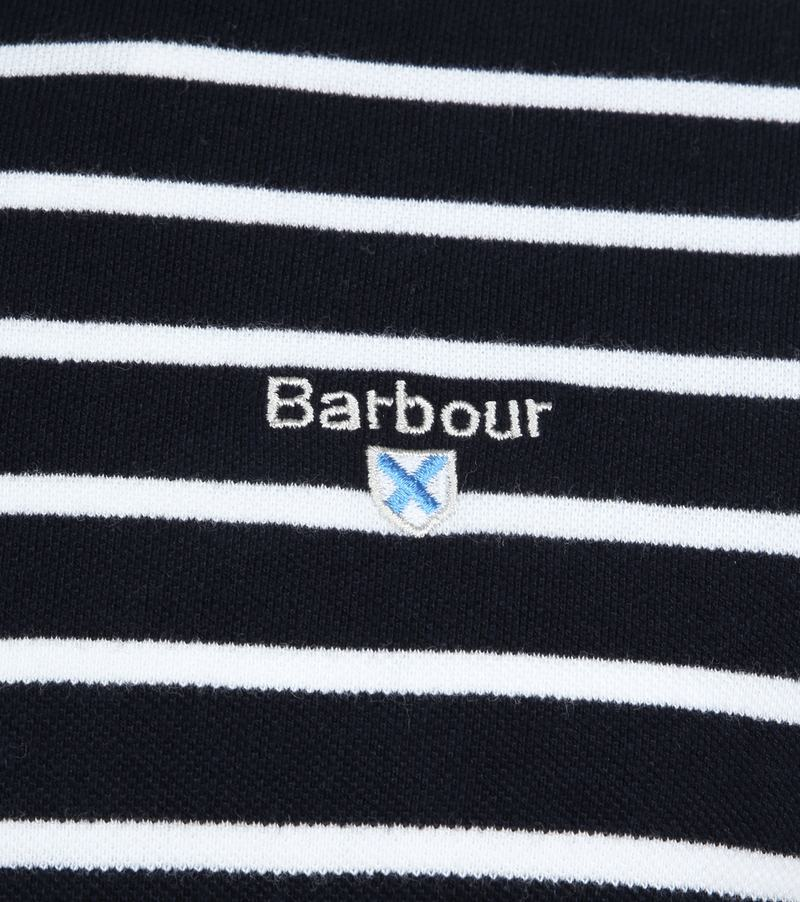 Barbour Polo Strepen Donkerblauw foto 2