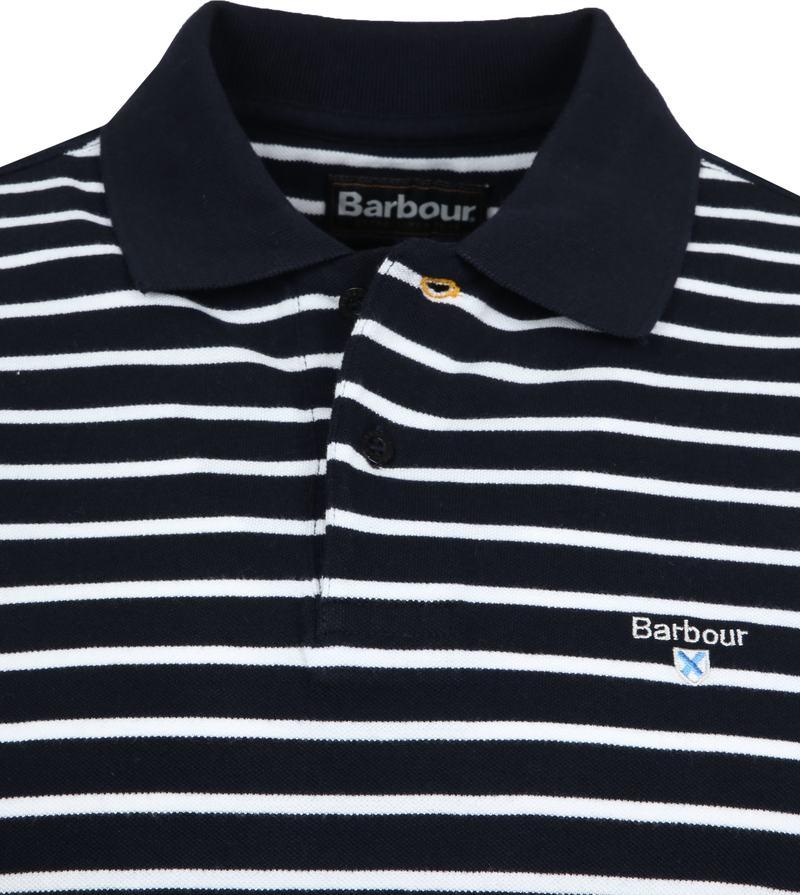 Barbour Poloshirt Streifen Dunkelblau