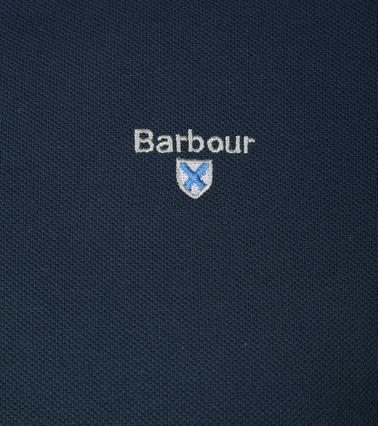Barbour Poloshirt Uni Blue photo 1