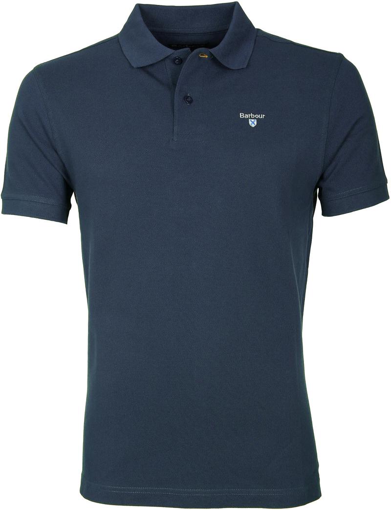 Barbour Poloshirt Uni Blue photo 0