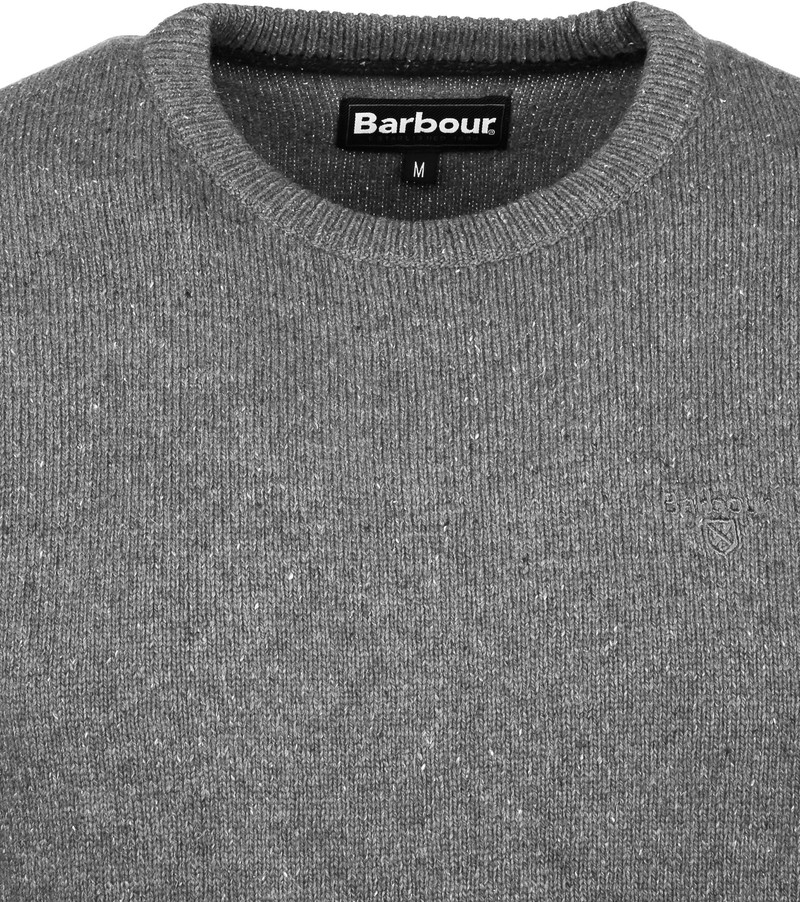 Barbour Pullover Tisbury Grijs - Grijs maat XXL
