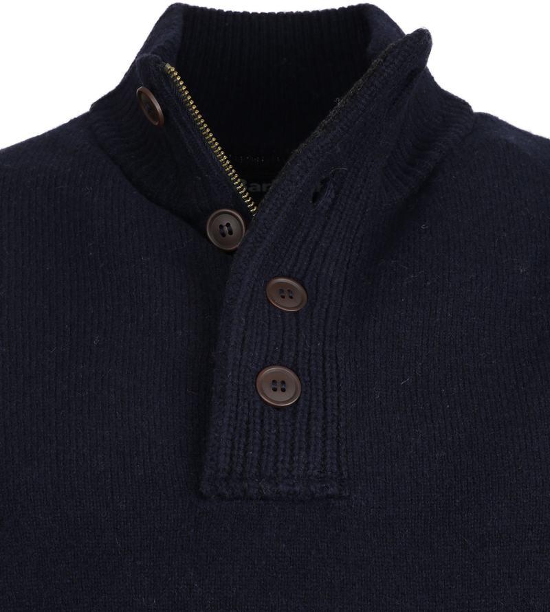 Barbour Pullover Wolle Grün Dunkelblau