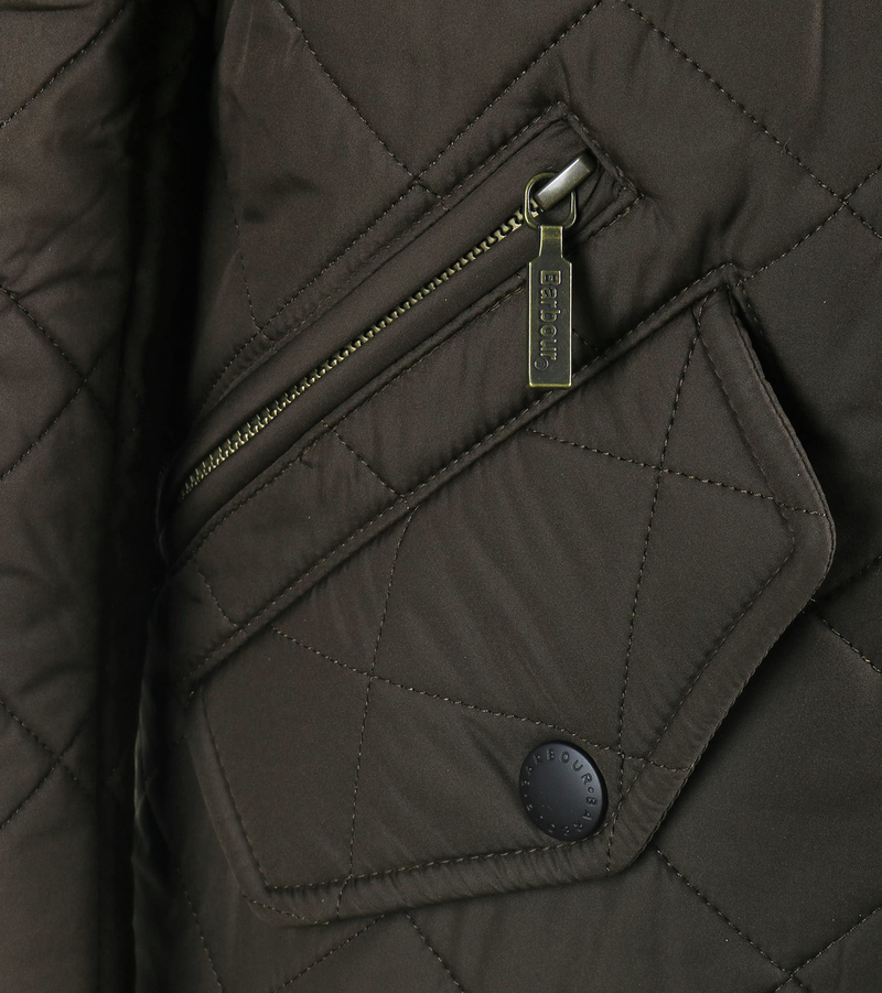 Barbour Quilted Jas Powell Olijf foto 3