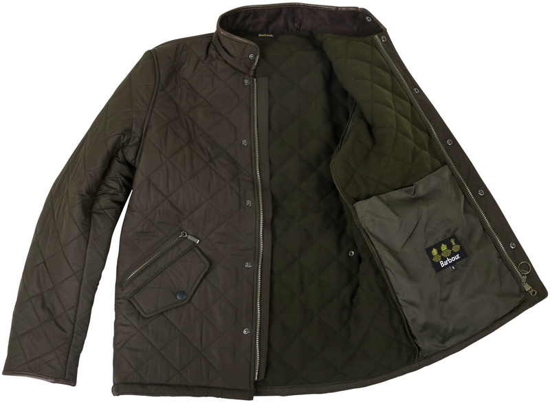 Barbour Quilted Jas Powell Olijf foto 5