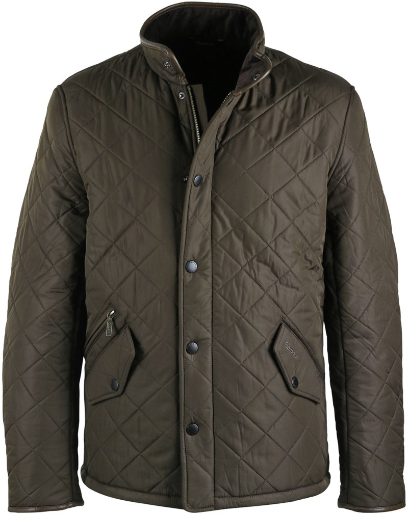 Barbour Quilted Jas Powell Olijf foto 0
