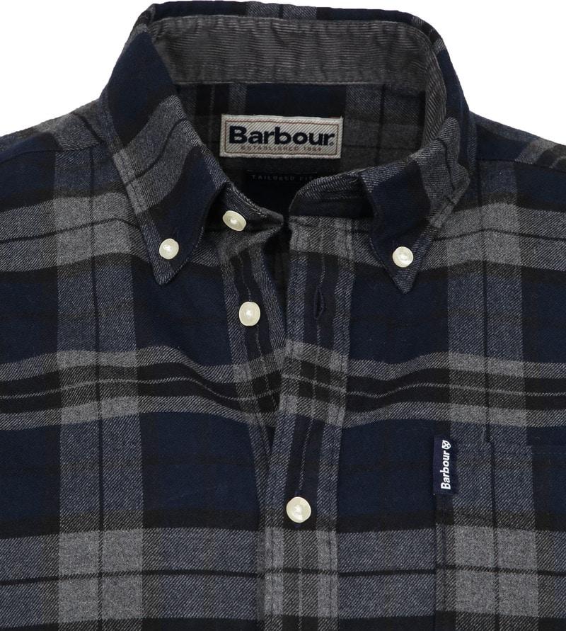 Barbour Shirt Diamant Dunkelbau Foto 1