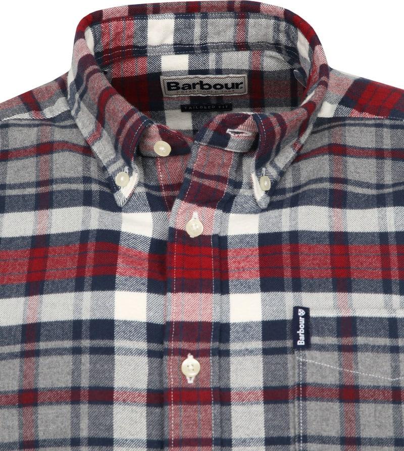 Barbour Shirt Diamant Rot Foto 1