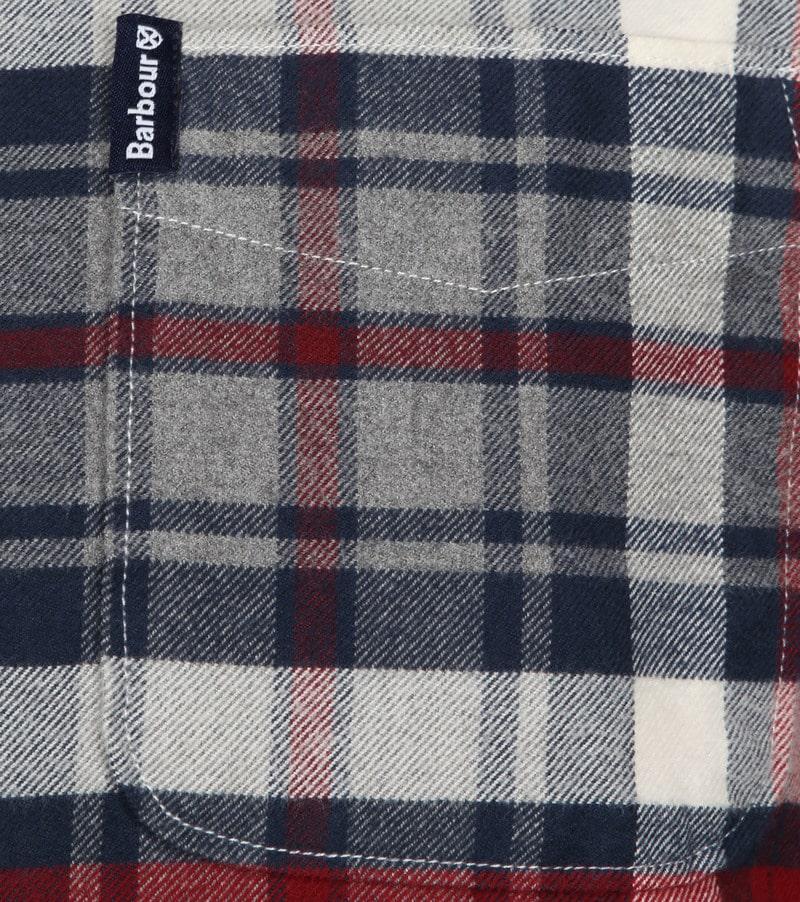 Barbour Shirt Diamant Rot Foto 3
