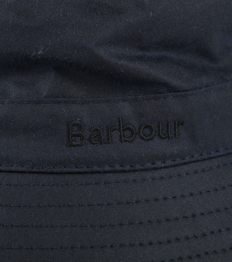Barbour Wax Hoed Navy foto 1