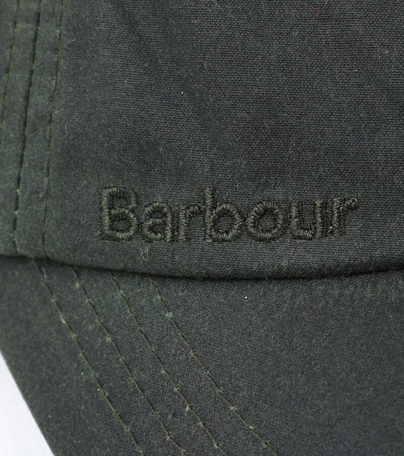 Detail Barbour Wax Pet Groen