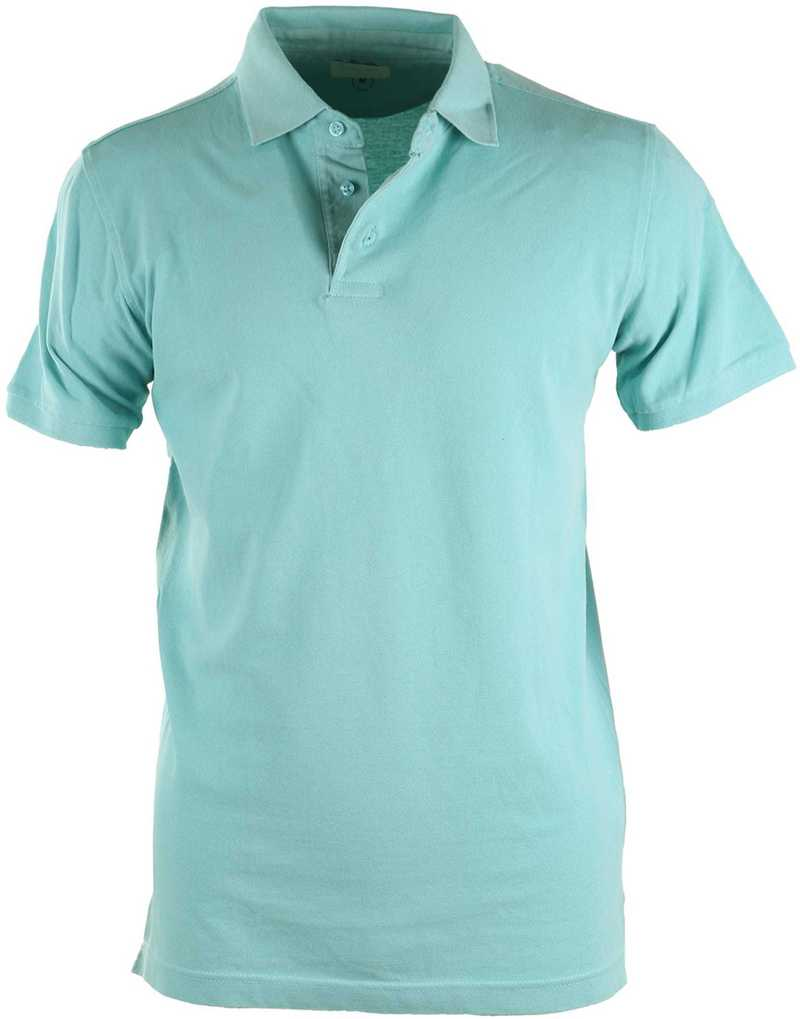 Detail Basic Polo Aqua
