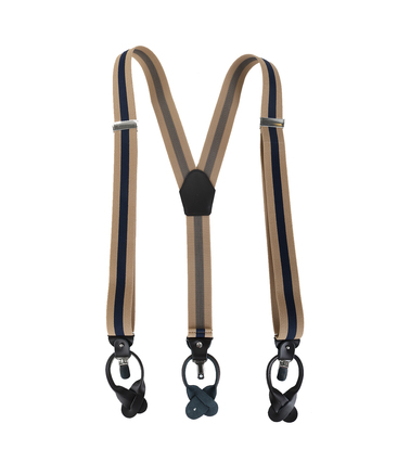 Beige-Navy Suspenders photo 1