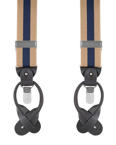 Beige-Navy Suspenders photo 0