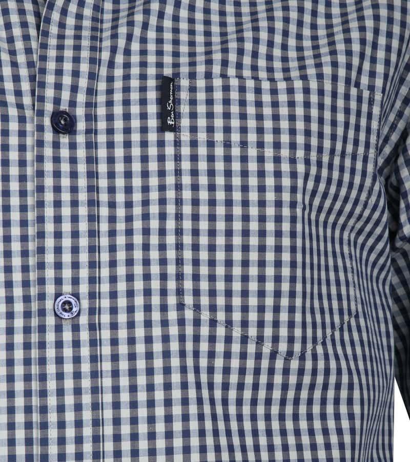 Ben Sherman Gingham Overhemd Navy foto 2