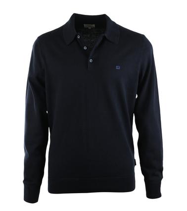 Ben Sherman Longsleeve Polo Donkerblauw  online bestellen | Suitable