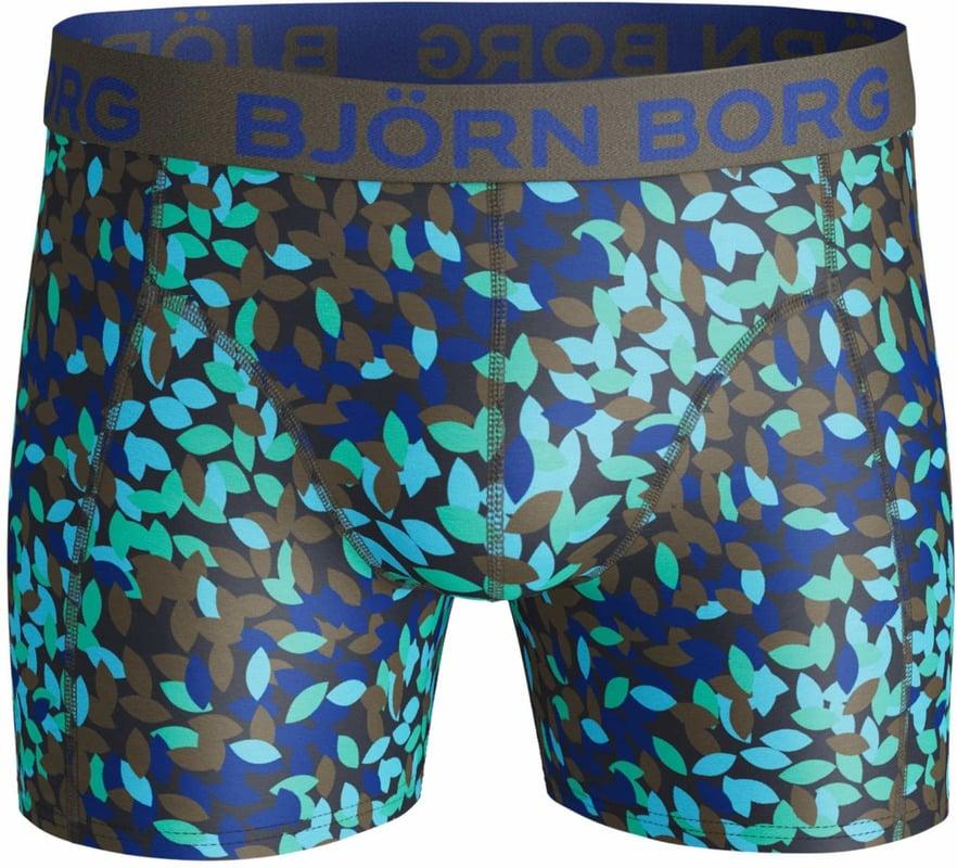 Detail Bjorn Borg Boxers 2-Pack Blauw en Print