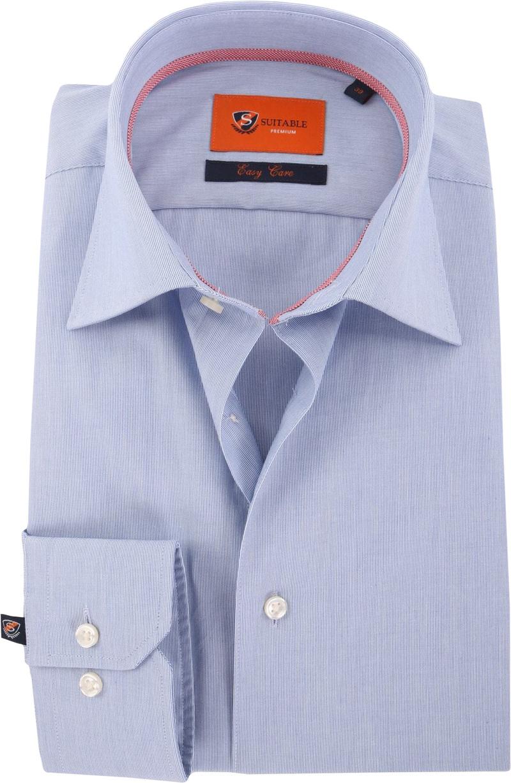 Blauw Gestreept Overhemd 51-06 foto 0