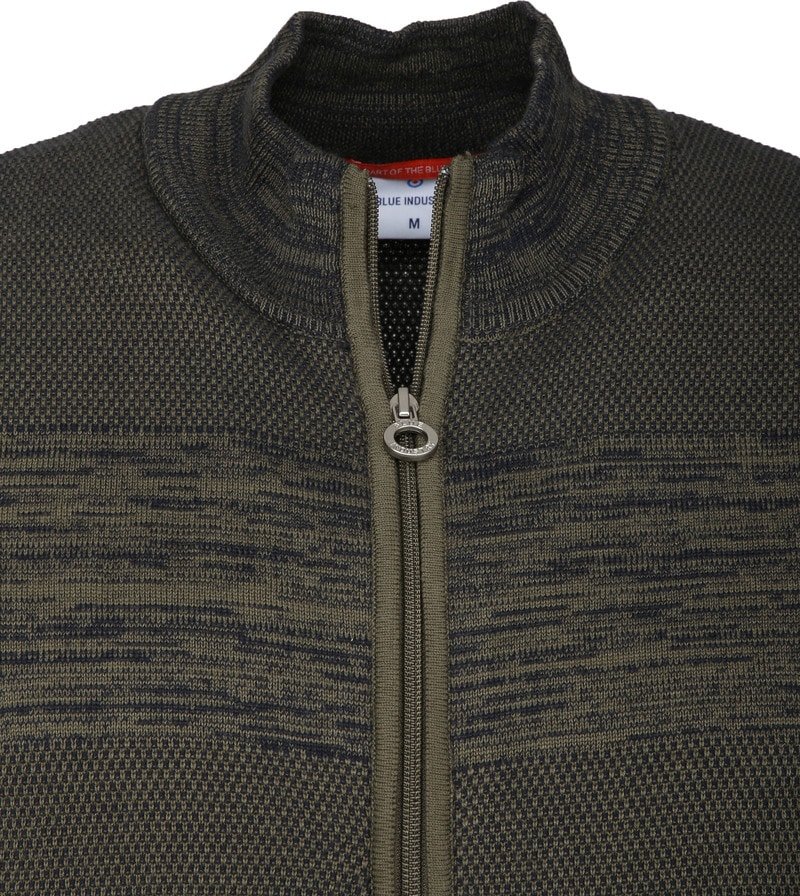 Blue Industry Dark Green Zipper Cardigan photo 1