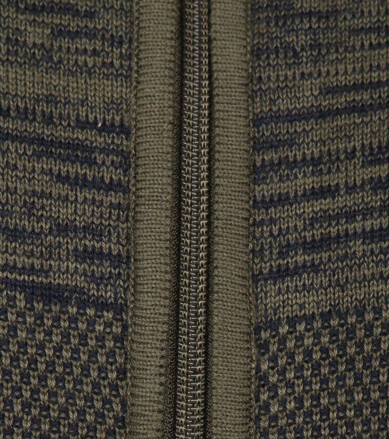 Blue Industry Dark Green Zipper Cardigan photo 2