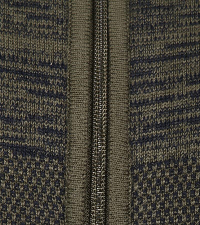 Blue Industry Donkergroen Zipper Vest - Donkergroen maat S