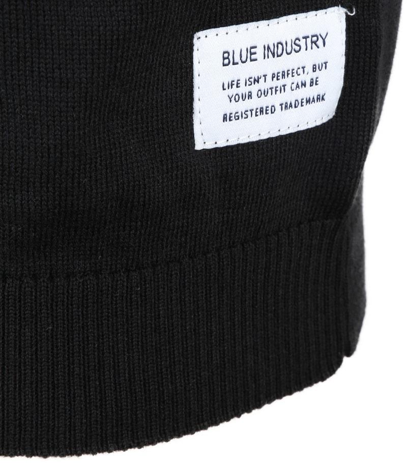 Blue Industry Knit Polo Zwart