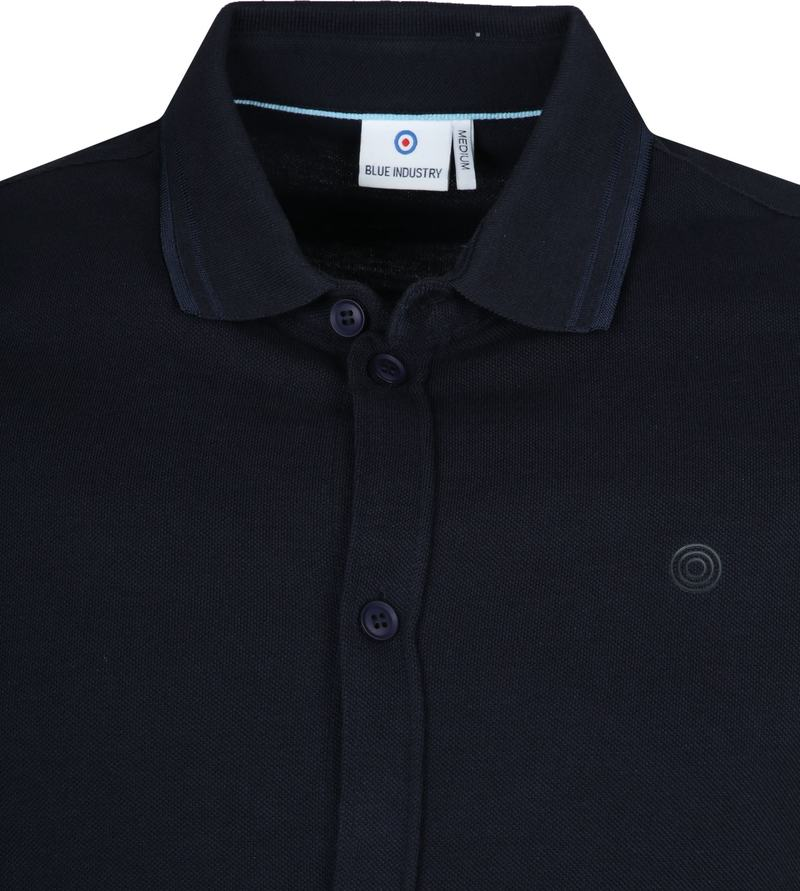 Blue Industry Navy Polo foto 1