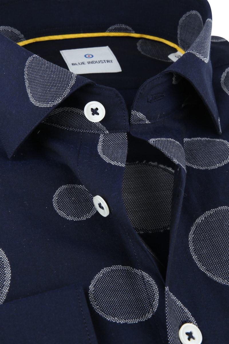 Blue Industry Overhemd Big Dots foto 1