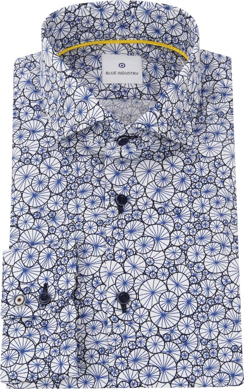 Blue Industry Overhemd Blauw Dessin foto 2
