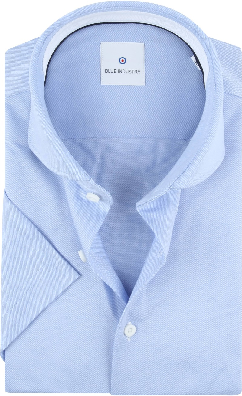 Blue Industry Overhemd Korte Mouwen Blauw foto 0