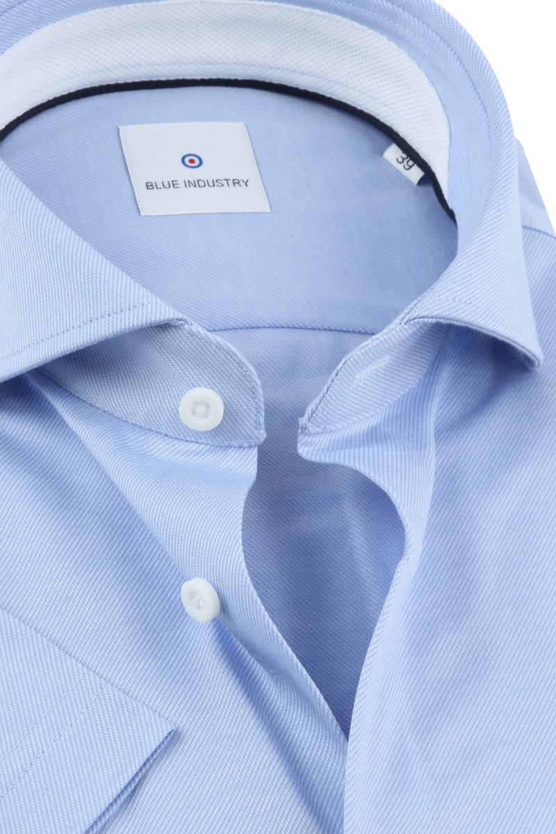 Blue Industry Overhemd Korte Mouwen Blauw foto 1