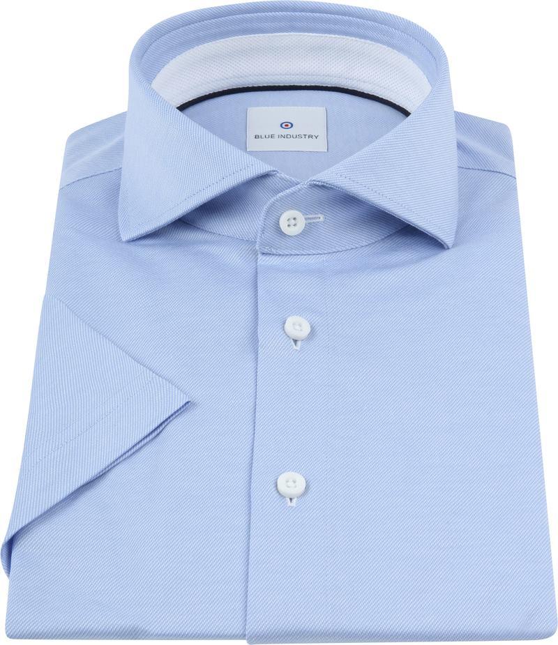 Blue Industry Overhemd Korte Mouwen Blauw foto 2
