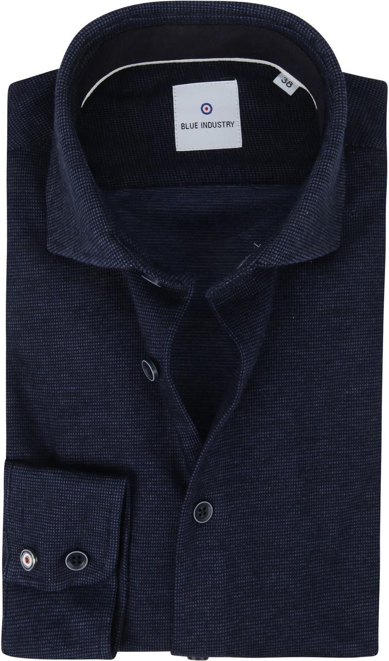 Blue Industry Overhemd Pique Donkerblauw foto 0