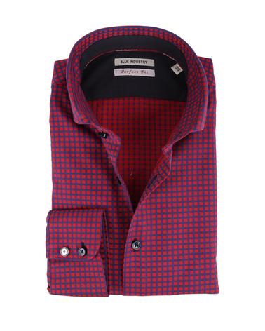 Blue Industry Overhemd Rood Blauw Ruit  online bestellen | Suitable