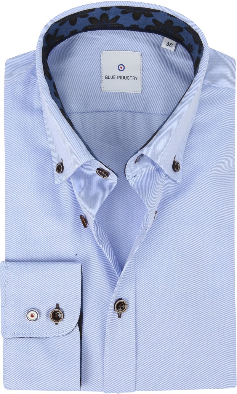 Blue Industry Overhemd Strepen Blauw foto 0