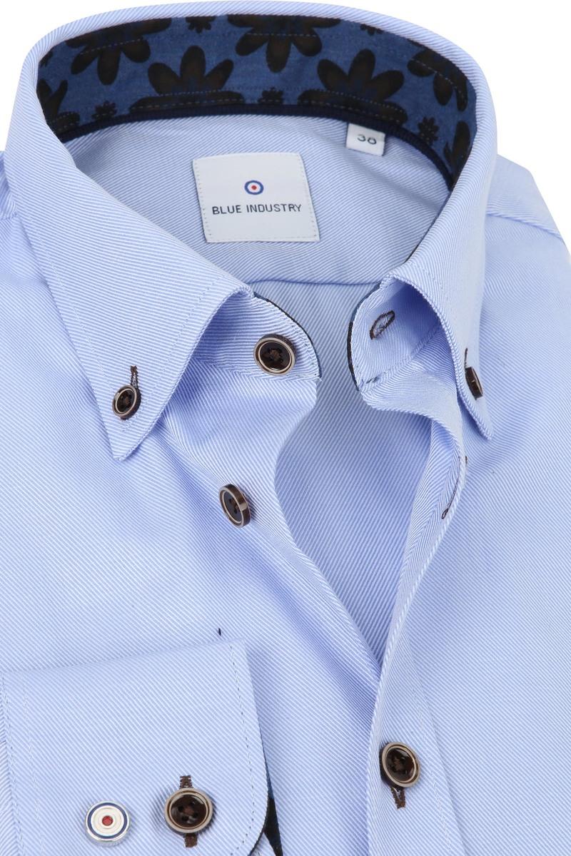 Blue Industry Overhemd Strepen Blauw foto 1