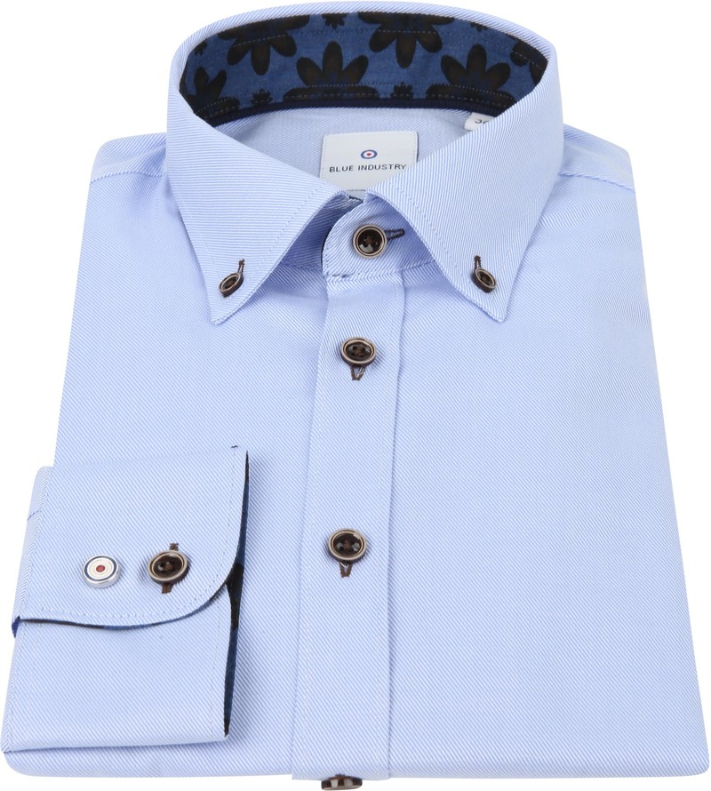 Blue Industry Overhemd Strepen Blauw foto 2