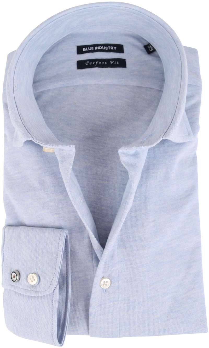 Blue Industry Overhemd Stretch Blauw  online bestellen | Suitable