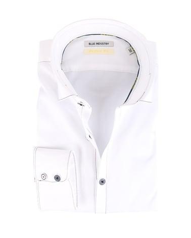 Blue Industry Overhemd Wit Stiksels  online bestellen | Suitable