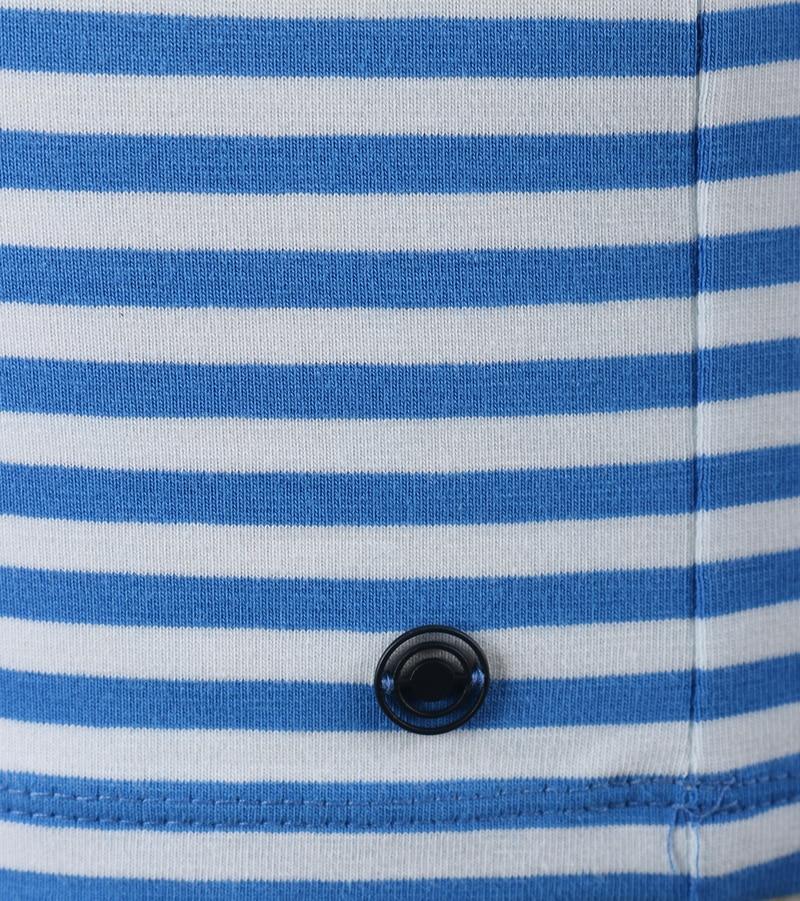 Detail Blue Industry Polo Blauw Streep