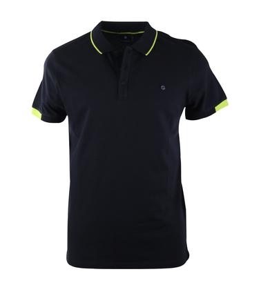 Blue Industry Polo Donkerblauw + Neon  online bestellen | Suitable