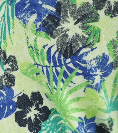 Detail Blue Industry Polo Groene Print