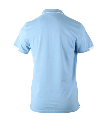 Detail Blue Industry Polo Light Blue