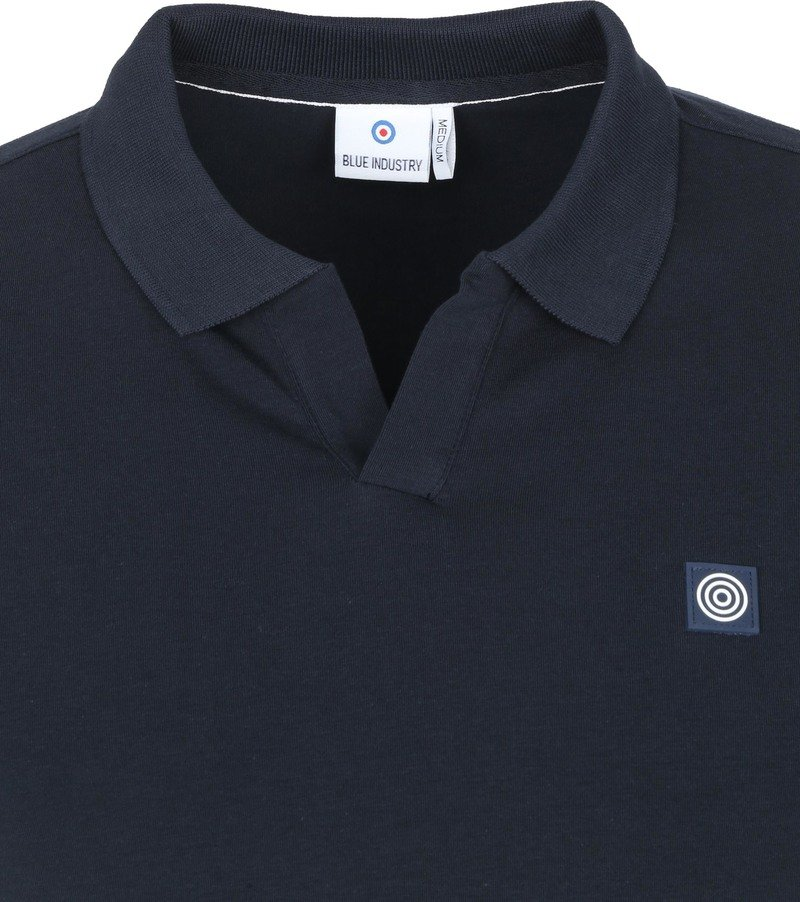 Blue Industry Polo Stretch Donkerblauw