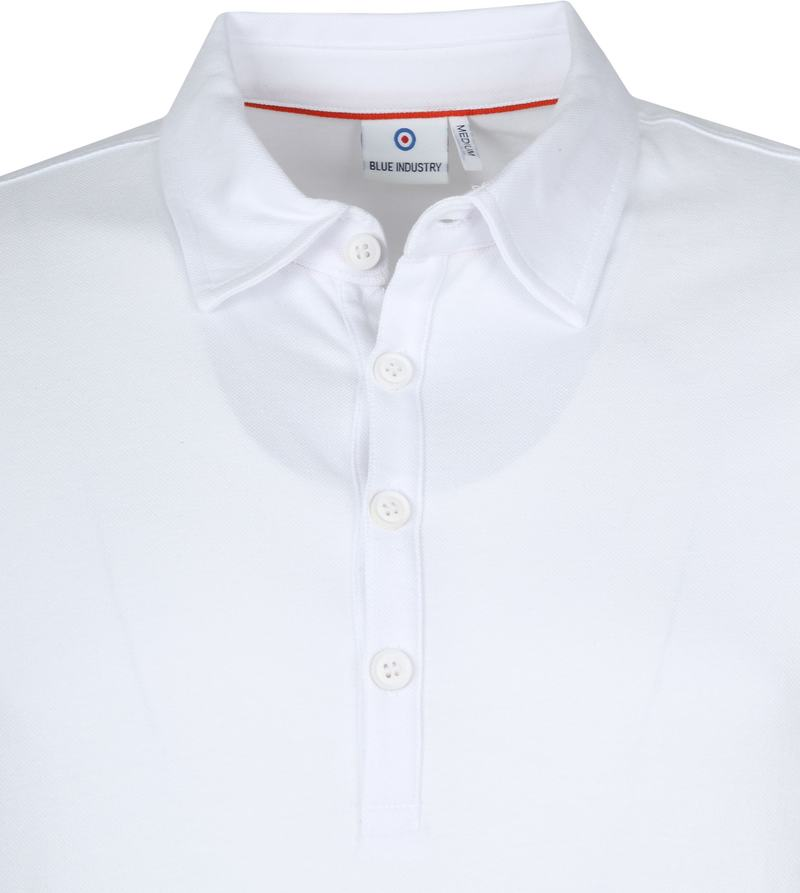 Blue Industry Polo Wit