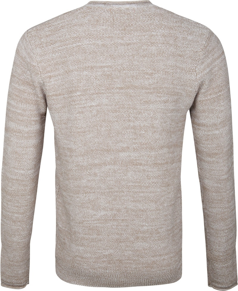 Blue Industry Pullover Beige