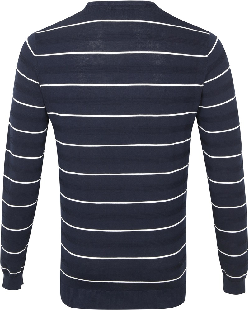 Blue Industry Pullover Stripe Donkerblauw - Donkerblauw maat XXL