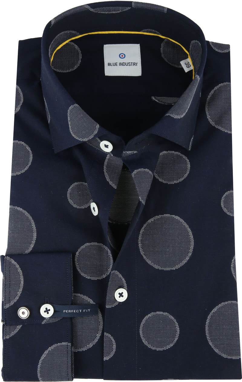 Blue Industry Shirt Big Dots photo 0