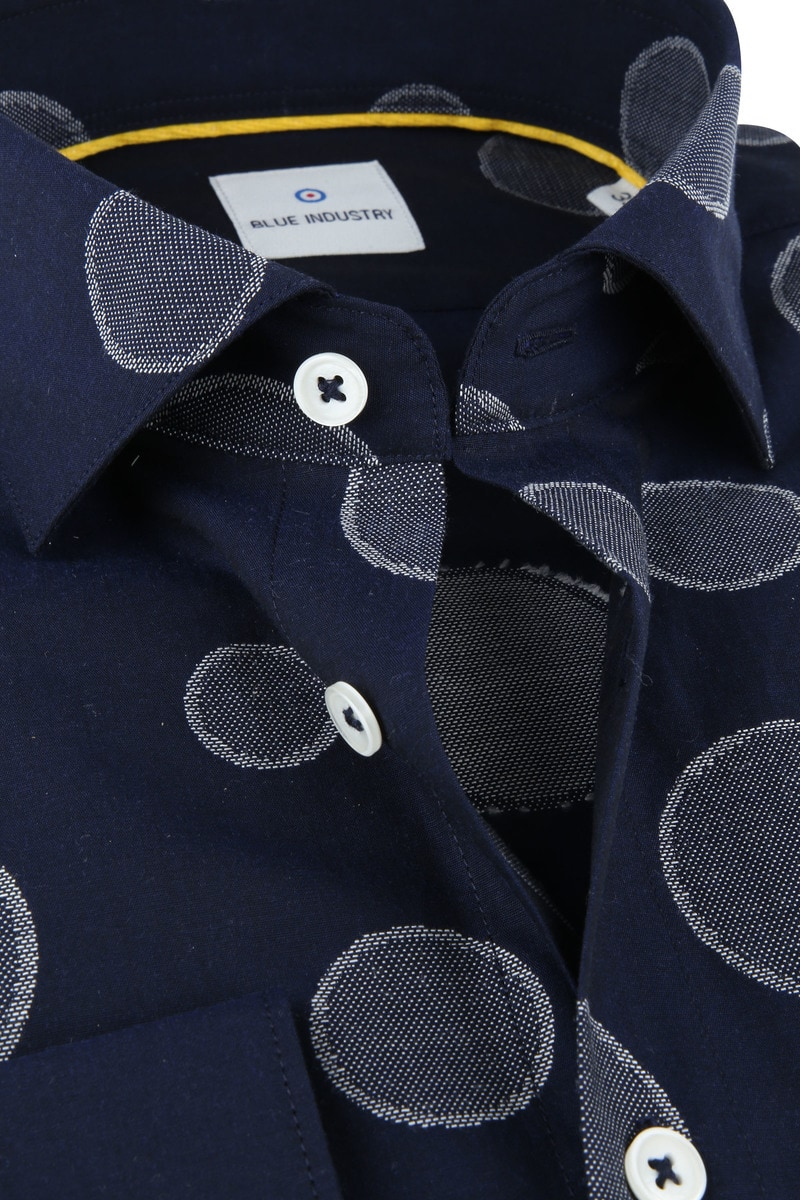 Blue Industry Shirt Big Dots photo 1